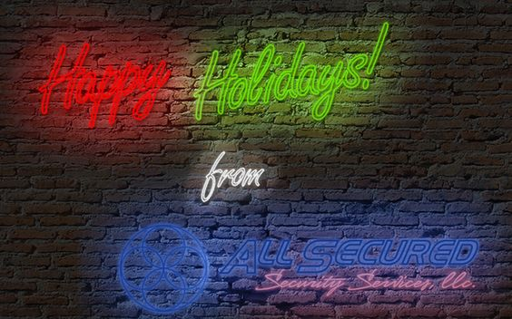 Happy Holidays from All Secured Security Services!  #holidays