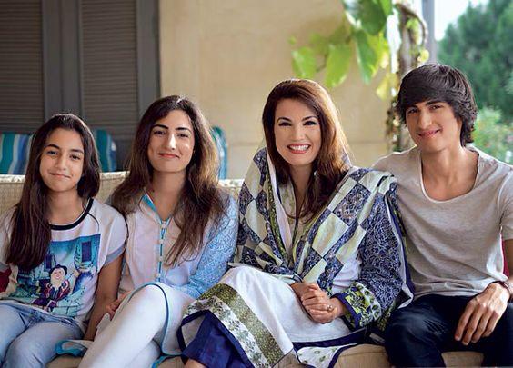 Reham Khan With Kids Reham Khan Celebrity Kids Celebrities