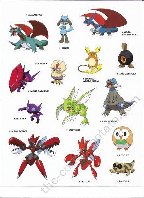 Pokemon Alola Stickers 7000 Pokemon Alola Pokemon All Legendary Pokemon