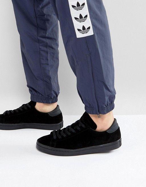genio Temeridad El cuarto  adidas Originals Court Vantage Sneakers In Black BZ0434 | Sneakers,  Sneakers men, Adidas originals
