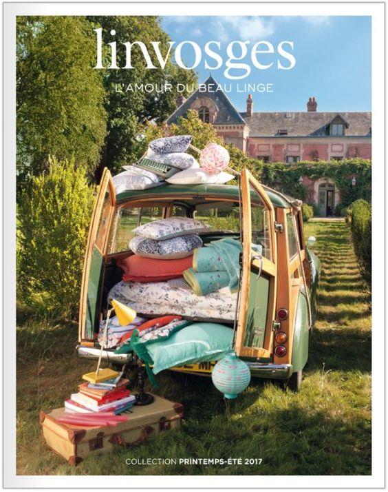 Catalogue Linvosges printemps / été . Spécialiste du linge de maison