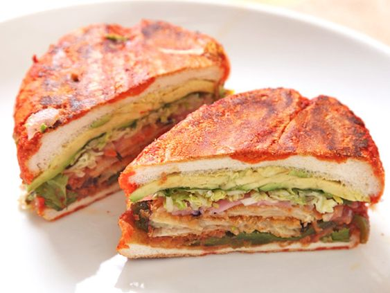 ... no better place to start than this Mexican Fried Eggplant Sandwich