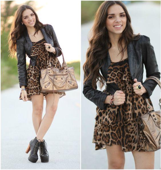 http://lookbook.nu/files/looks/large/2011/11/05/1699054_a14-2-1.jpg?1320509184: Cheetah Leopard Whatever, Fashion Style, Rock Girls, Style Inspiration, Cheetah Leopard Print, Cheetah Style, Cheetah Dress