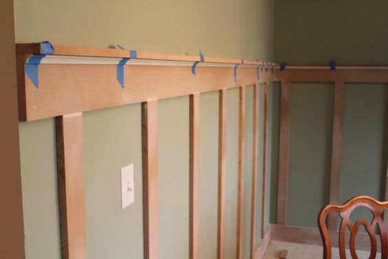 A less expensive way to have chair railwainscoting DIY  : ba6cc97704278b9041d8c627d21143b6 from www.pinterest.com size 564 x 376 jpeg 19kB