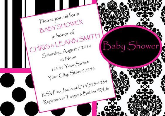 Damask Baby Girl Baby Shower InvitationYOU by LCsCustomInvitations, $15.00
