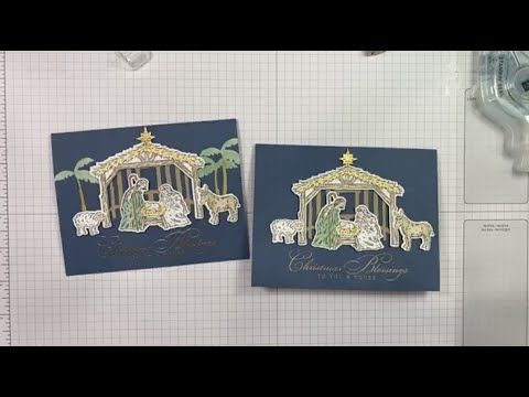 Nativity Christmas Cards 2020 Stampin' Up! Peaceful Nativity Christmas Card Video Tutorial