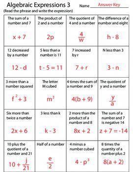 Algebraic Expressions 3 Worksheet Algebraic Expressions Math Expressions Writing Algebraic Expressions