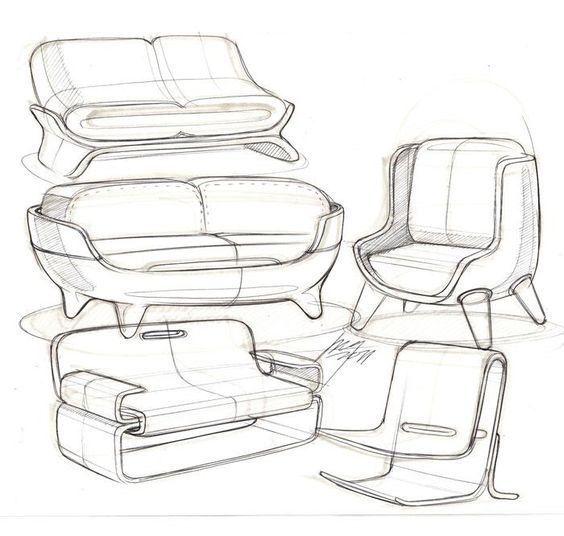 Уроки рисования #ChairSketch   Industrial design furniture ...