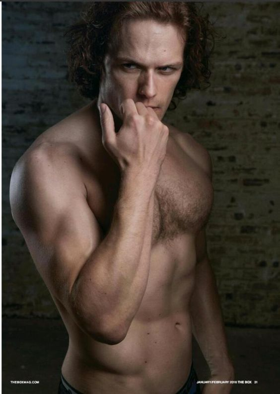 Here are full scans of Sam Heughan in The Box magazine See more scans after the jump