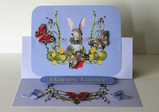 An Easel style card created using the Gorgeous Woodland Walk from Daisytrail. Artwork by Siobhan x