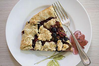 torta de morango & blueberry