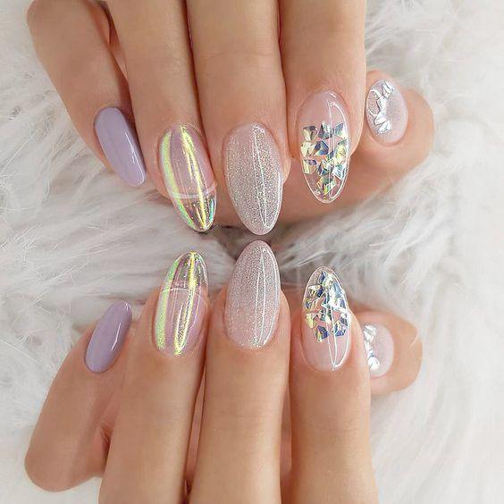 Home Blend Of Bites Solid Color Nails Rose Gold Nails Bridal Nails
