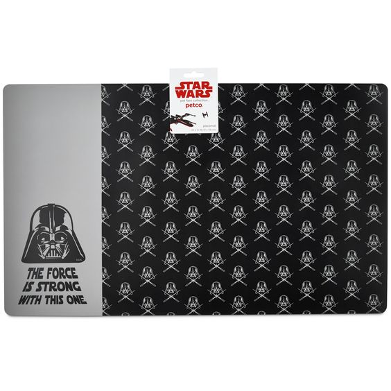 Star Wars Darth Vader Bowl Placemat -  - http://www.petco.com/shop/en/petcostore/star-wars-darth-vader-bowl-placemat