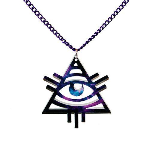 Illuminati Triangle Necklace by ImSorryWhatDidYouSay on Etsy, £7.00