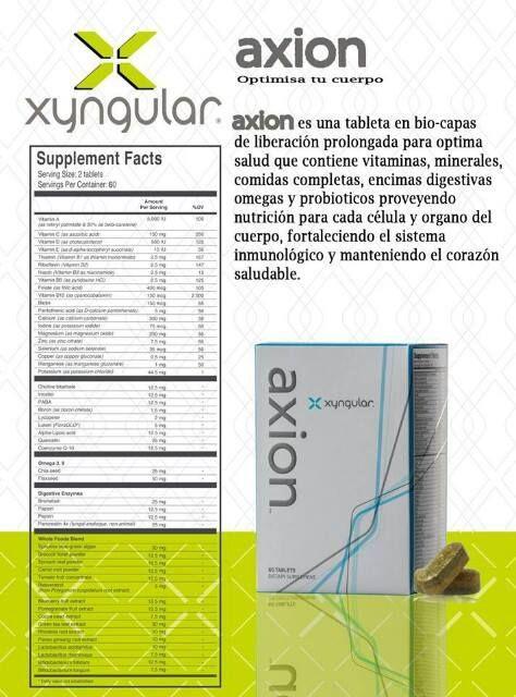 Para que gastar en tantas vitaminas?  Con Axion tienes todo lo que necesitas y mas!