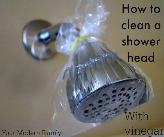 How To Clean Your Shower Heads With Only Vinegar