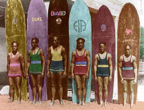 Vintage surfers