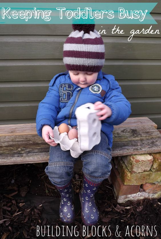 Keeping Toddlers Busy in the Garden - A Guest Post by Building Blocks and Acorns (Our Little House in the Country)