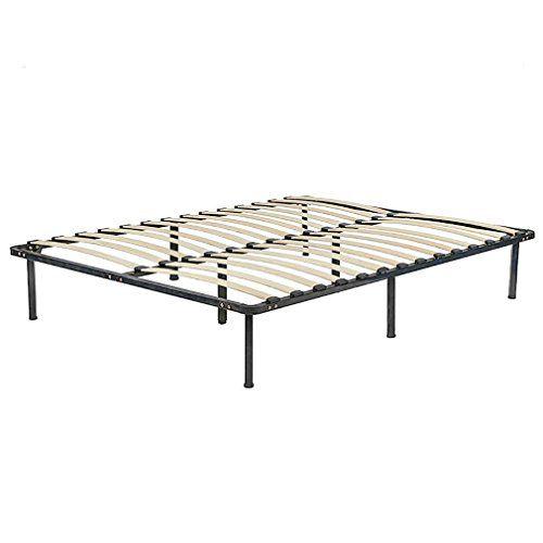 Oldzon Bed Frame Wood Platform Bed Frame Black Steel Frame With Wood Slat Support King With Ebook Wood Platform