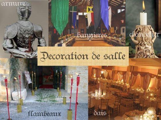 mariage idées thème médieval décoration de salle  mariage ...