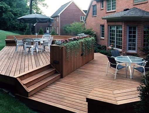 Lovely Perfect Deck Planter Box Divider. Visually Designates Separate Areas Of Deck.  | Futur Patio De Feu!!! | Pinterest | Divider, Decking And Planters