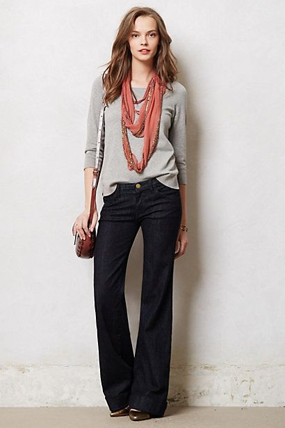 I love wide-leg jeans!  Current/Elliott Wide-Leg Jeans #anthropologie