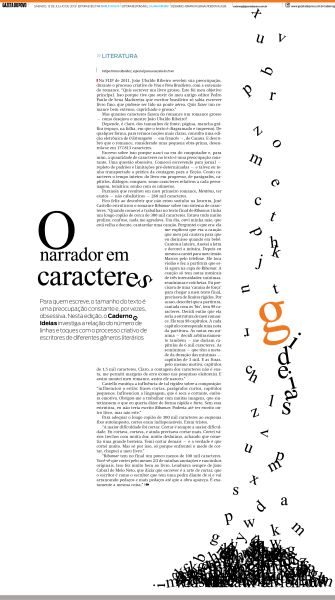This news layout has a lot of empty space, but the format of the article on the page makes it look very interesting. The letters ending up in a pile is the most clever format I have seen for a newspaper layout design.