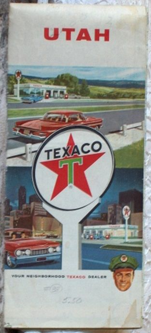 http://ajunkeeshoppe.blogspot.com/  ROAD MAP 1960 Texaco Utah State Highway Routes