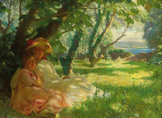 The Athenaeum - In the shade (Harold Knight - 1912)