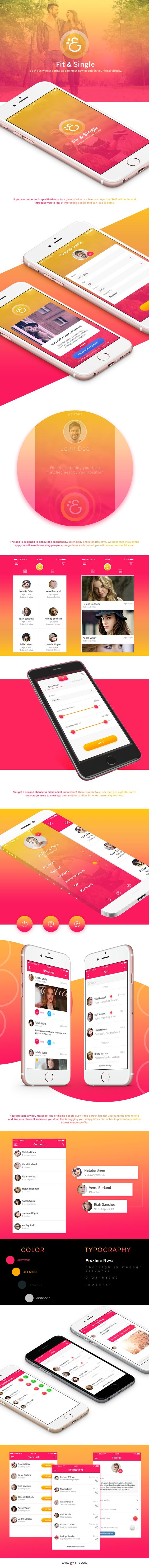 Fit & Single - Dating App on Behance