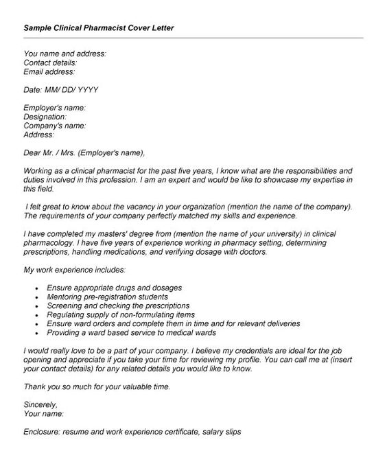 Pharmacy Cover Letter Example - (adsbygoogle u003d windowadsbygoogle - registration specialist sample resume