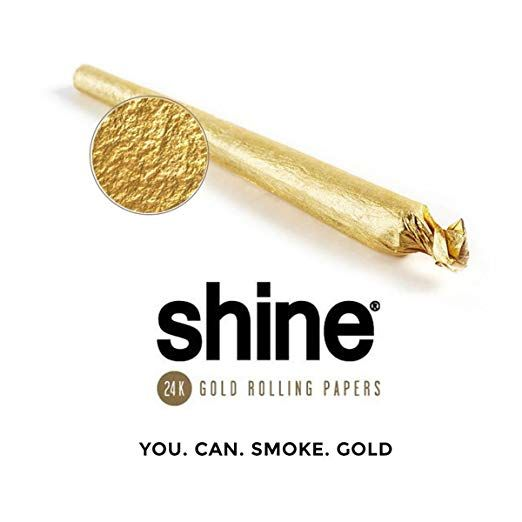 Shine 24k Gold Rolling Papers 1 25 Size 12 Sheet Party Pack By Shine Gold Party Packs 24k Gold