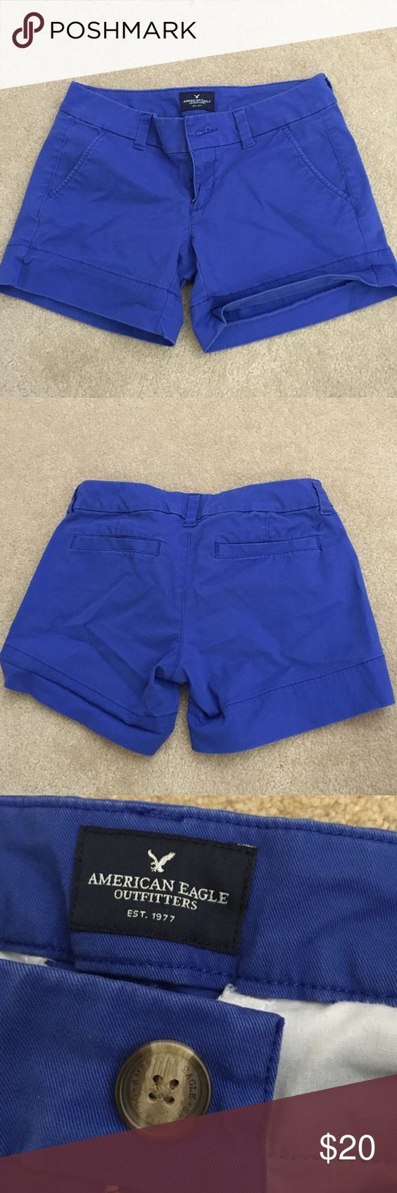 AMERICAN EAGLE cobalt midi stretch shorts Only worn a few times. In the Midi-Stretch style. American Eagle Outfitters Shorts