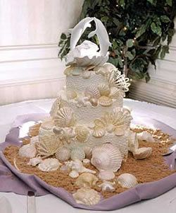 #weddingcake #wedding I would absolutely love this wedding cake! Love the dolphins