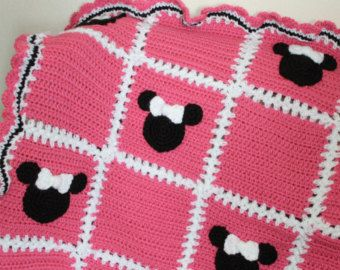 Mickey Mouse Crochet Baby Blanket Pattern : Mickey mouse blanket, Mice and Minnie mouse on Pinterest