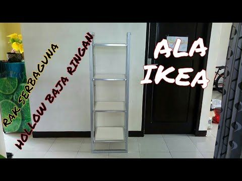 baja ringan hollow 4x4 membuat rak sebaguna ala ikea youtube