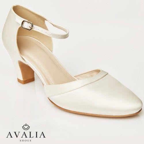 AvaliaChaussure mariage Emma ivoire Chaussure satin 5LARj4