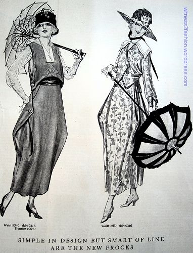 frock dress styles 1917 world war I 1910s   witness2fashion