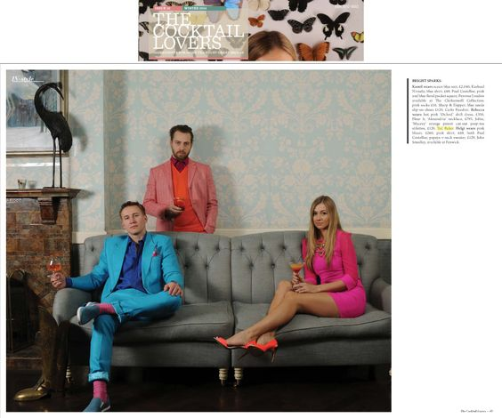 Ted Baker Footwear in The Cocktail Lovers Magazine 12.02.14