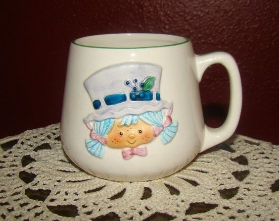 Strawberry Shortcake Blueberry Muffin Earthen Ware Designers Collection Cup | eBay
