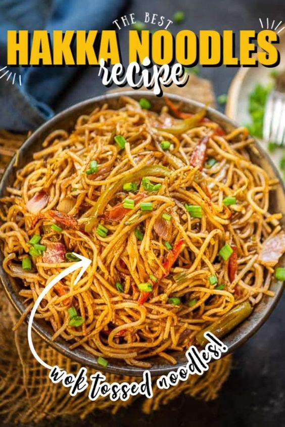 Best Hakka Noodles Recipe I How to make Hakka noodles