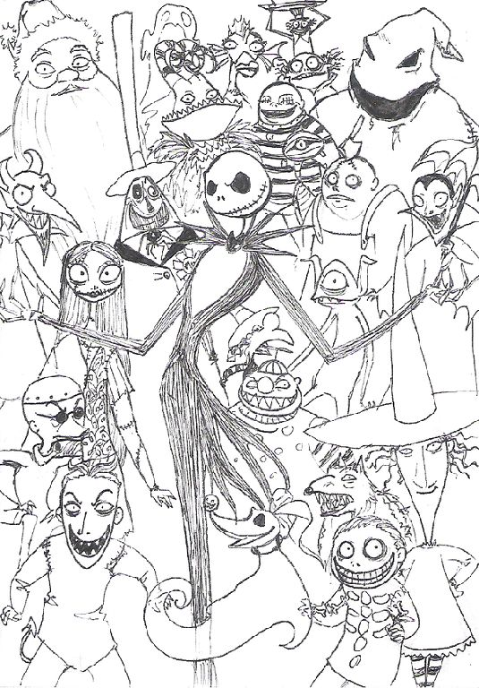 Nightmare Before Christmas Coloring Pages Kids Gallery dpolQ83i ...