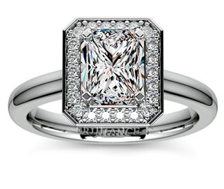 Radiant Halo Diamond Engagement Ring in Platinum  http://www.brilliance.com/engagement-rings/halo-diamond-engagement-ring-platinum-1/4-ctw