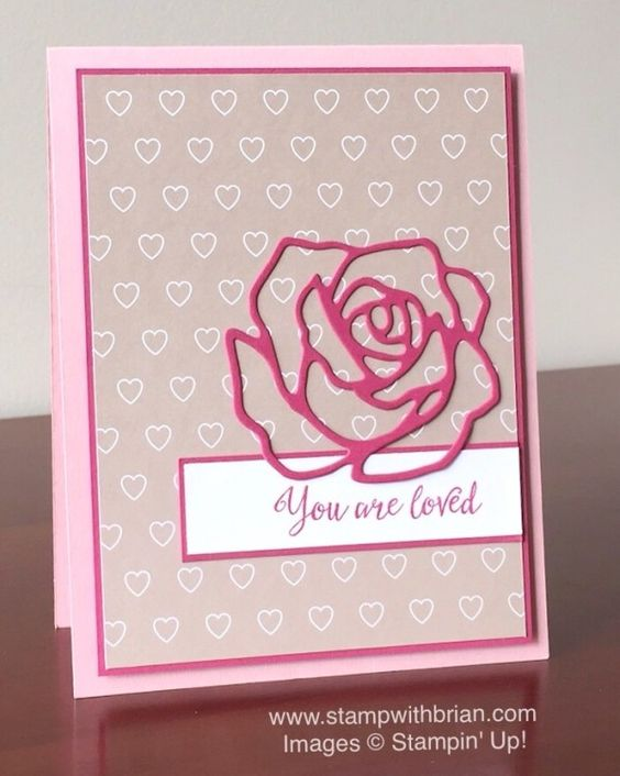 Grateful Bunch, Rose Garden Thinlits Dies, Love Blossoms Designer Series Paper Stack, Stampin' Up!, Brian King, FMS217, Valentine's Day card: