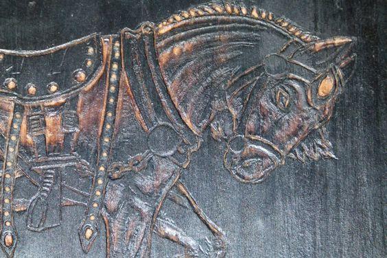 Woodburn Horse on shield