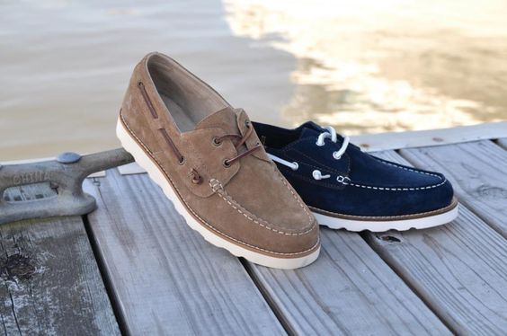 Rugged Shark Wheelhouse:  A durable, suede mocassin with a comfortable, lightweight EVA bottom. #boatshoe #ruggedshark #fishing