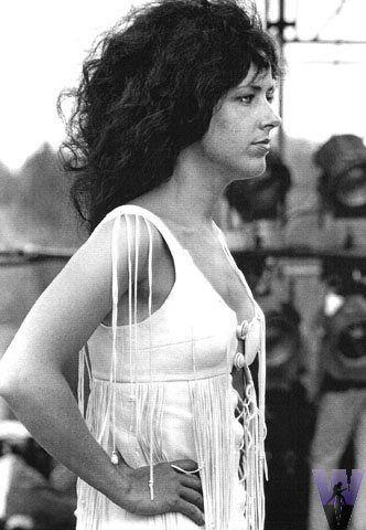 Grace Slick of Jefferson Airplane, at Woodstock.