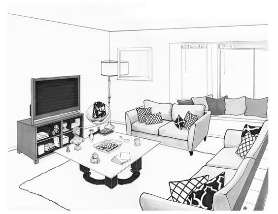 Living Room Drawing Decoration Ideas Cheap Top | BG ideas | Pinterest |  Living rooms, Interior designing and Drawings