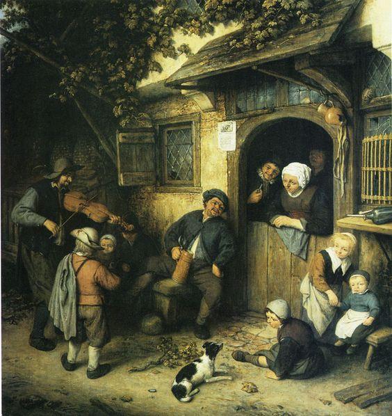 Adriaen van Ostade - The violin player