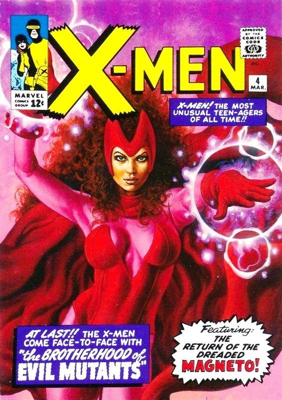 X-Men / 4 / March cover / Scarlet Witch / 2014 (Joe Jusko)